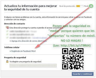 Actualizar Seguridad Facebook