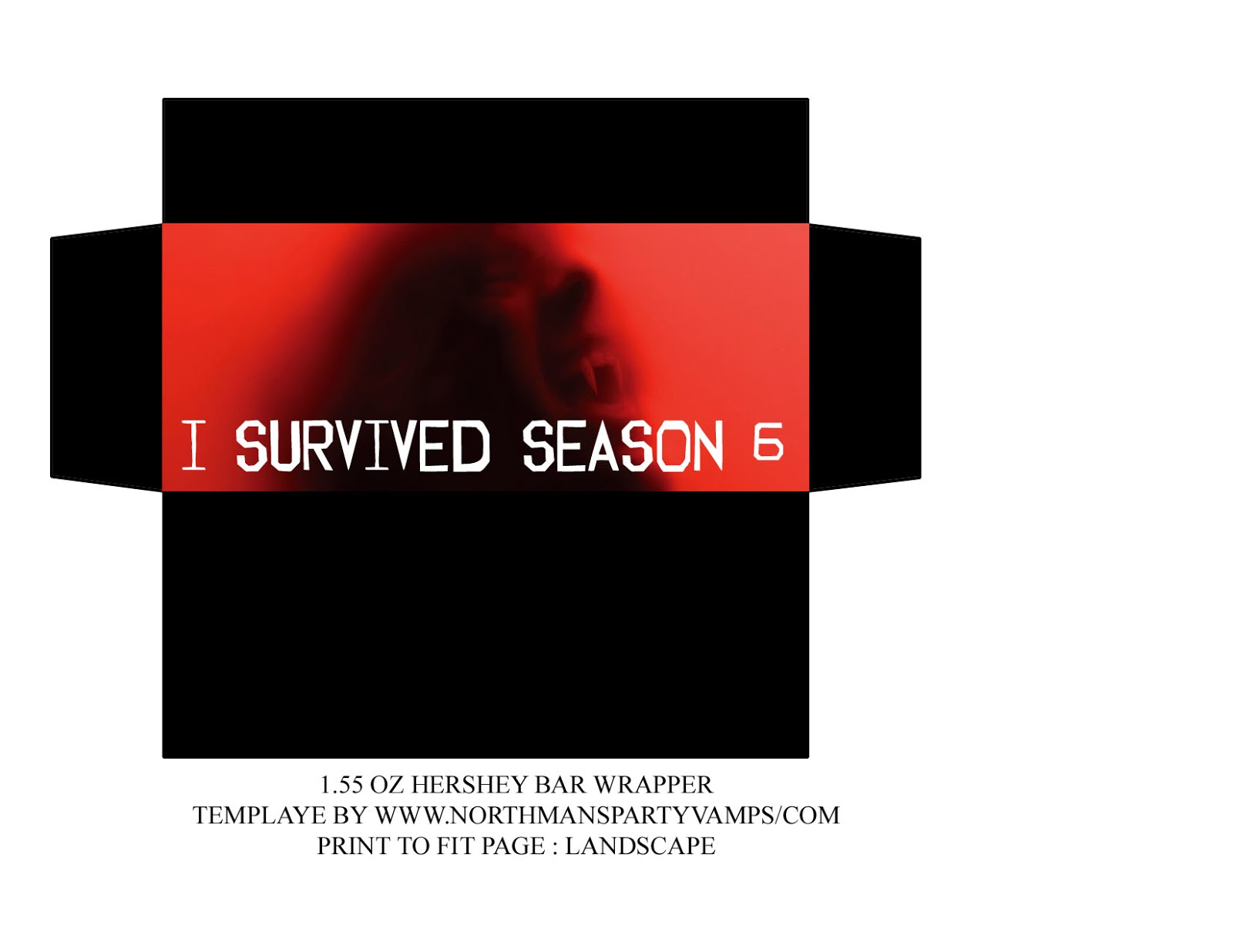 Hershey Candy Bar Wrapper Template I survived season 6 candy bar