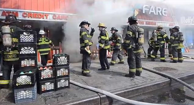 Fdny Put Out A 4 Alarm Fire Box 2303 Where A Blaze Engulfed A Brooklyn Fine Fare Supermarket At 405 Remsen Avenue Early Sa Ay Afternoon