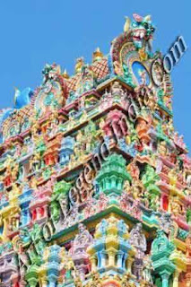 One of the gopurams or gate way of the Madurai temple