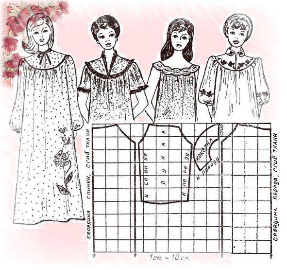 Схема и выкройка для вязания кофточки