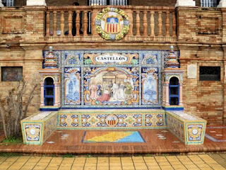 Plaza de España, Sevilla - Azulejo de Castellón
