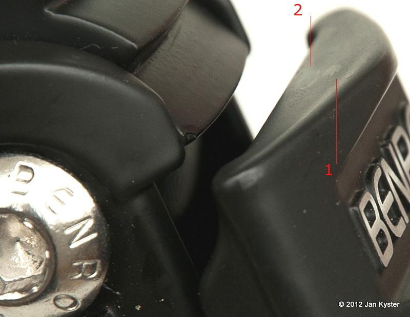 Benro C3770T CF Tripod - leg angle lock contact area detail