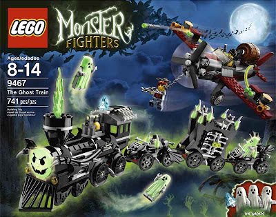 Set 9467 Monster Lego train railway striking structure horrifying poltergeist haunted ghost fighters