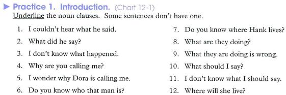 Contoh soal latihan Noun clause beserta kunci jawaban
