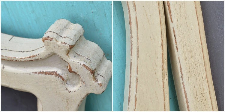 chalk paint and crackling with Elmer's glue
