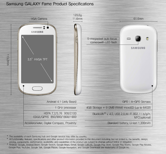 Samsung Galaxy Fame Product Specs