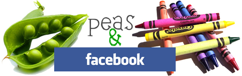 peas and crayons facebook button