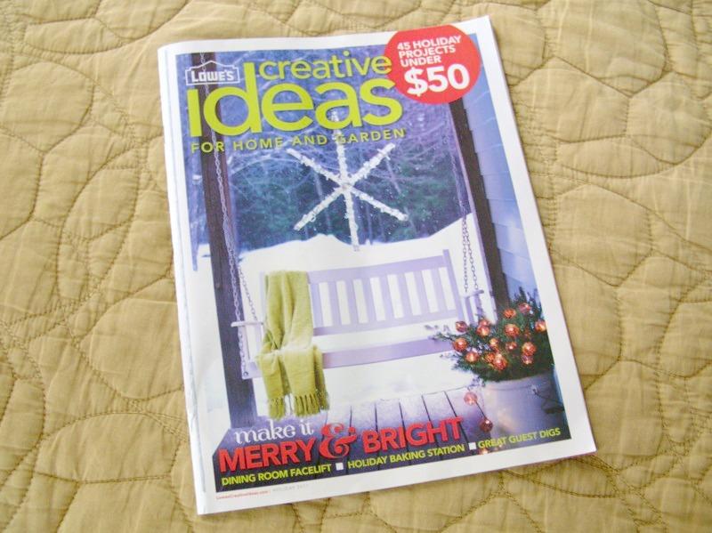 Ordinary mommy design lowe 39 s creative ideas magazine holiday 2011 - Lowes creative ideas app ...