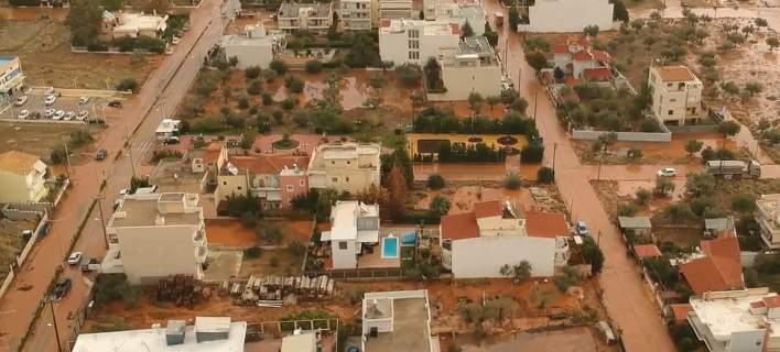 Drone καταγράφει τις ανυπολόγιστες καταστροφές στο Θριάσιο Πεδίο -«Πνιγμένο» στη λάσπη [βίντεο]