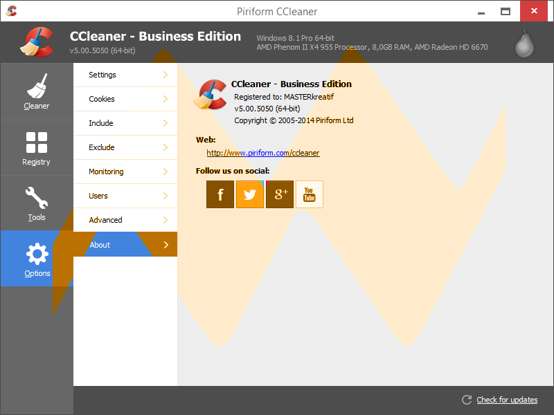 CCleaner v5.00 Business Edition