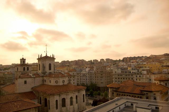 catedral santander atardecer