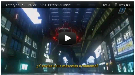 Trailer del juego Prototype 2 Español [720p HD] 2012