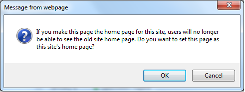 sharepoint 2013 default home page