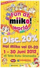 DISKON 20% KOMIK MIIKO Vol 1-20 dari tanggal 1 s/d 30 Juni 2012