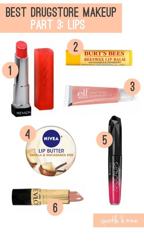 Sparkle amp mine the best drugstore makeup ever part 3 lips