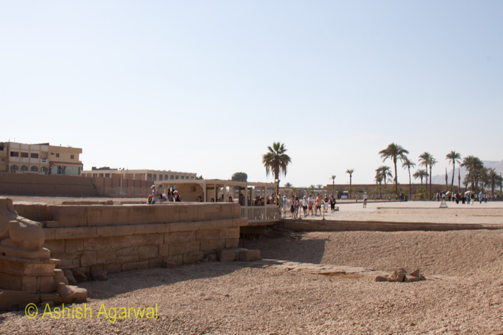 Wide view of the inner side of the Karnak Temple at Luxor