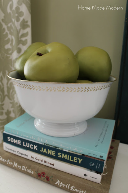 bowl with green apples