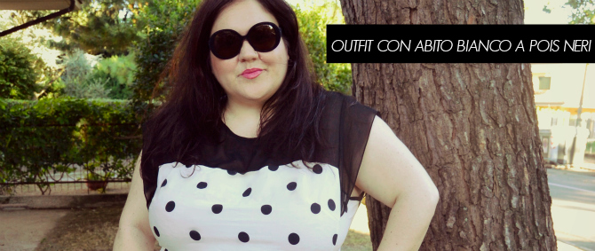 outfit con abito yours clothing a pois