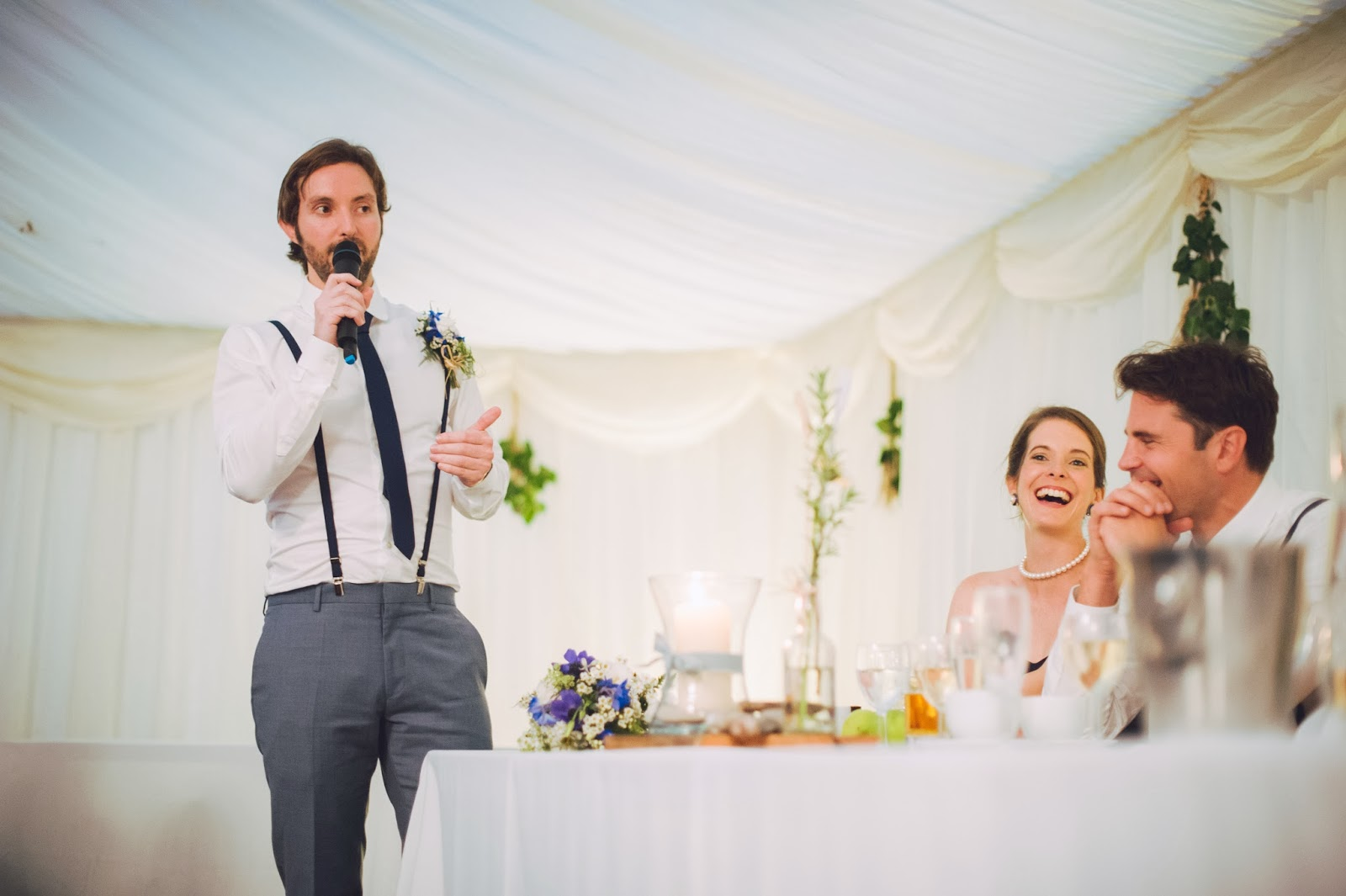 Speeches at Quantock Lakes wedding