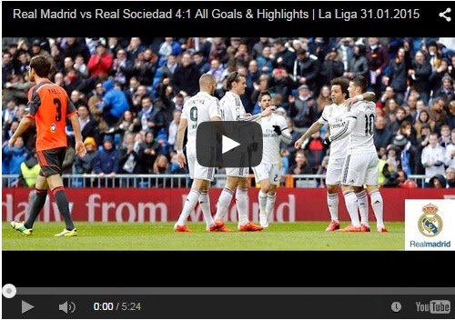Highlights : Real Madrid 4-1 Real Sociedad