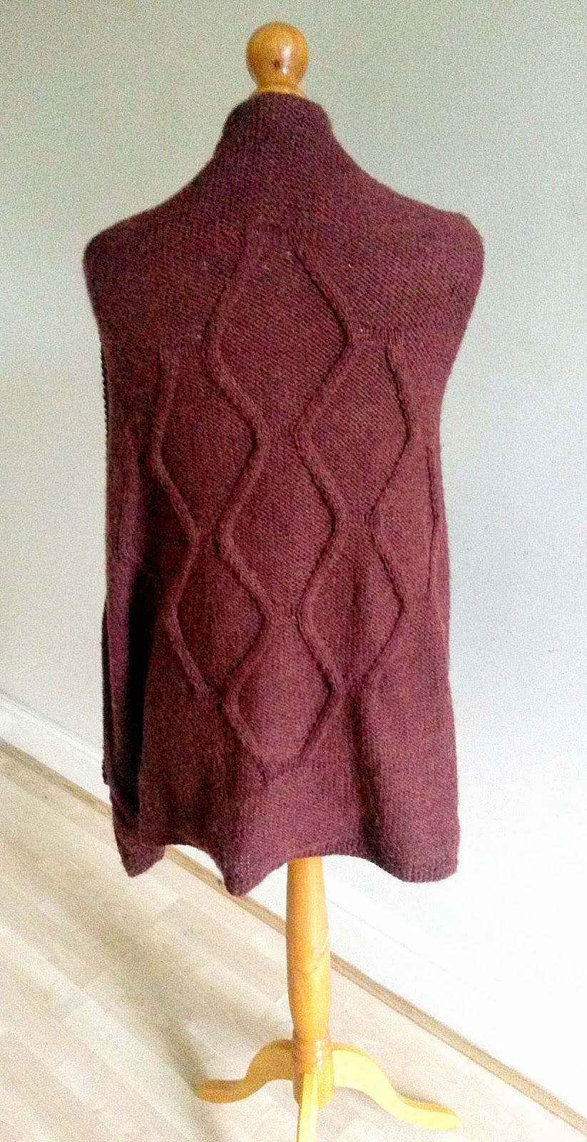 "Knitted ruana ""Ijeoma"" by Mrs U Makes"