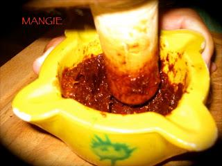 Ingredientes majado gachas pimentón