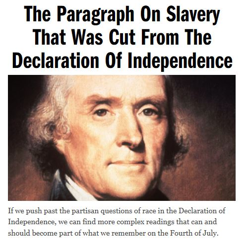 thomas jefferson and slavery Thomas jefferson is remembered as a progressive man who wrote the declaration of independence and called slavery an abomination, yet he was also a slaveholde.