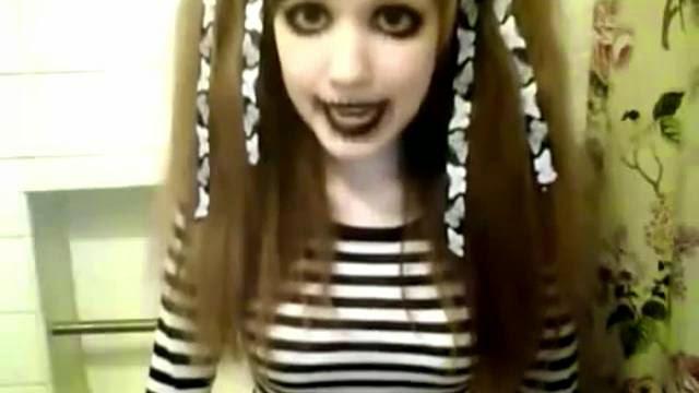 Weird little Japanese girl