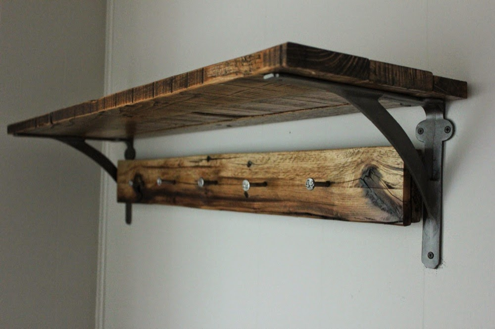 Blue lamb furnishings Reclaimed Wood Wall Shelf Vintage Railroad Delectable Vintage Coat Rack With Shelf