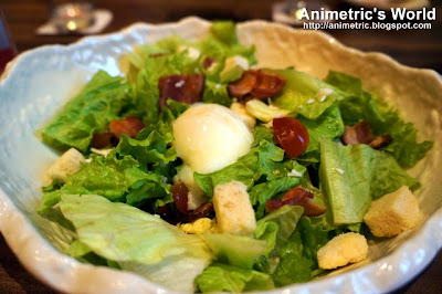 Caesar Salad with Hot Spring Egg at Watami Japanese Casual Restaurant