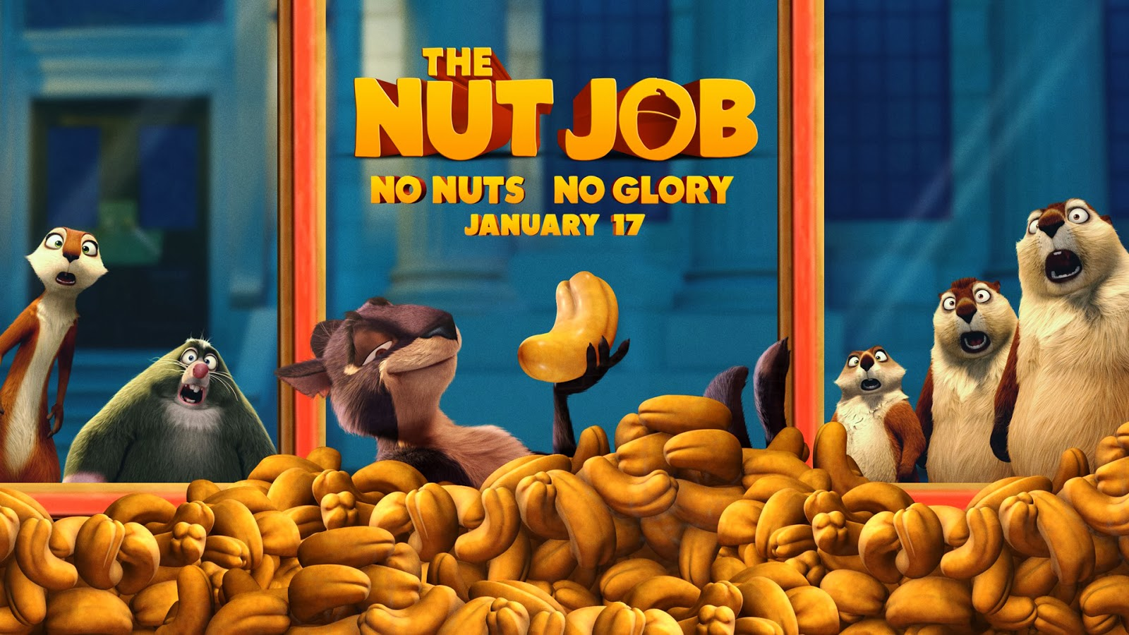 The Nut Job Animation Movie HD Wallpaper