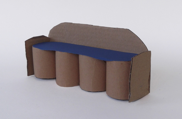 paper sofa, paper furniture