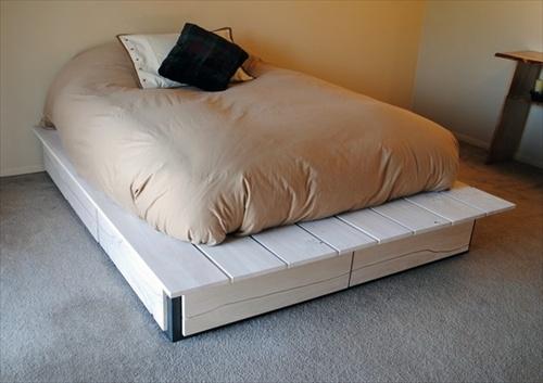 ... DIY Ideas: Best Use of Cheap Pallet Bed Frame Wood - Pallet Furniture