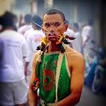 Phuket Vegetarian Festival street procession.