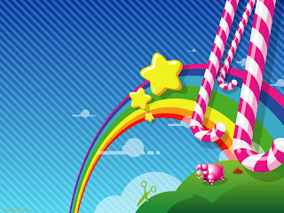 Free Download Vector Candy Shop Wallpaper