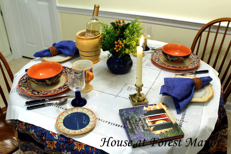 ... a beautiful collection of dinnerware serveware and accessories based on the book Dancing with the Moon a Story of Love at the Villa della Luna ... & House at Forest Manor: An Italian Tablescape and a Giveaway