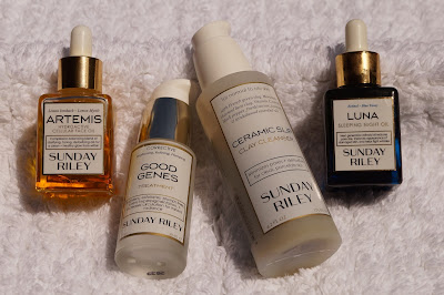 Sunday Riley Range, Artemis, Luna, Good Genes, Ceramic Slip Cleanser