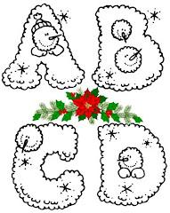 Abecedarios de Invierno y Navidad