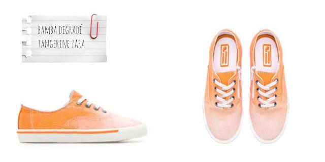 Zara Kids - Zapatillas con estilo degradado en color naranja - 100% de algodón con suela de caucho €19,95 - €3,99
