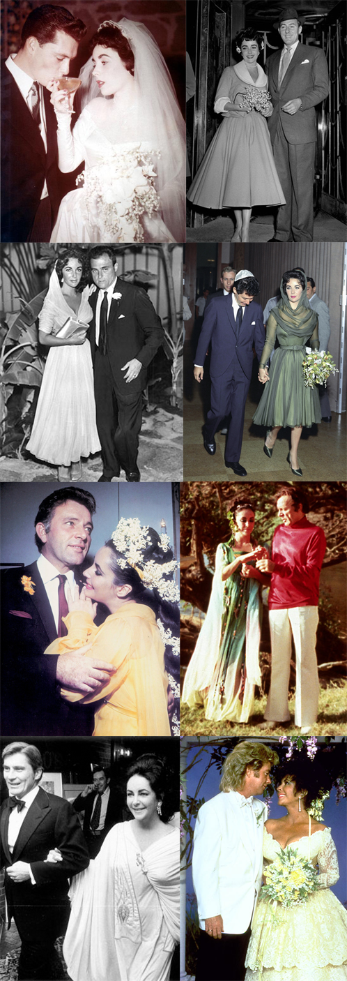 Elizabeth Taylor Had Her Fair Share Of Weddings And Iu0027ve Tried To Collect  Photographs Of Her 9 (she Had 2 Ceremonies When She Married Mike Todd)  Wedding ...