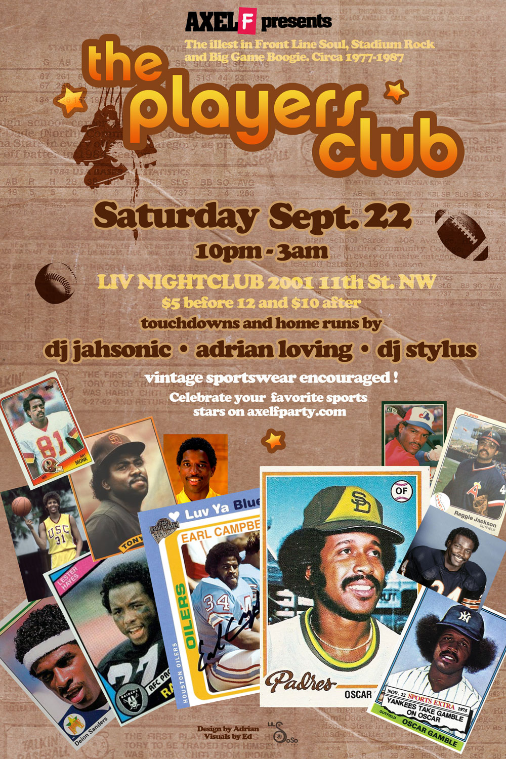 Axel F - The Players Club, Sat. 9/22