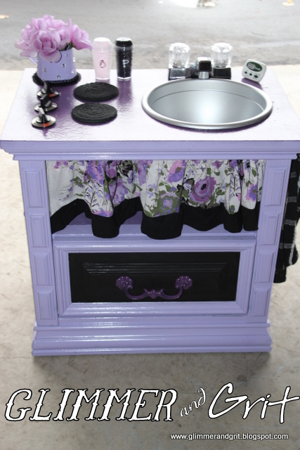 Glimmer and grit end table play kitchen 2 for Play kitchen table