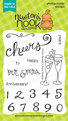 Years of Cheers | 3x4 photopolymer Anniversary stamp set  | Newton's Nook Designs
