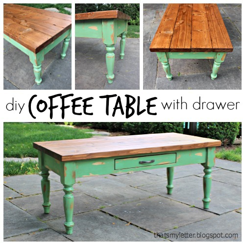 That's My Letter: DIY Coffee Table (with Drawer
