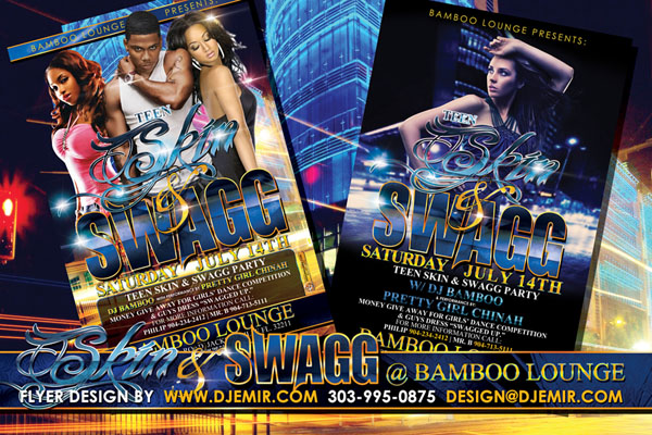 Skin and Swagg Teen Party Flyer Design Florida