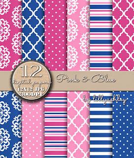 Stripes Polka Dots Quatrefoil Medallion