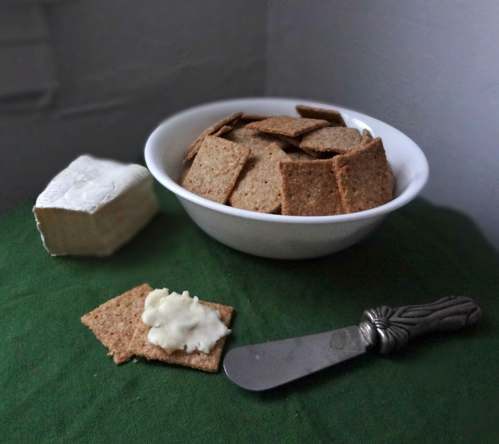 The Cooking Actress: Homemade Wheat Thin Crackers