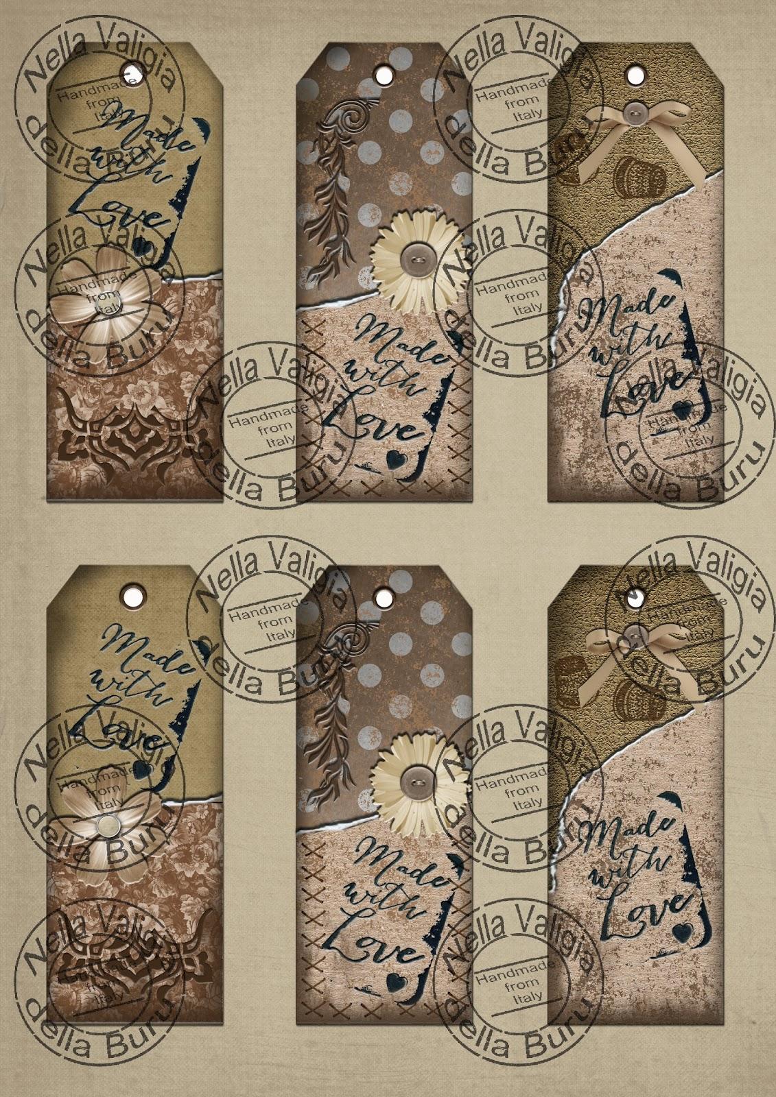 Favorito Nella valigia della Buru: Etichette stampabile con download free  MP39