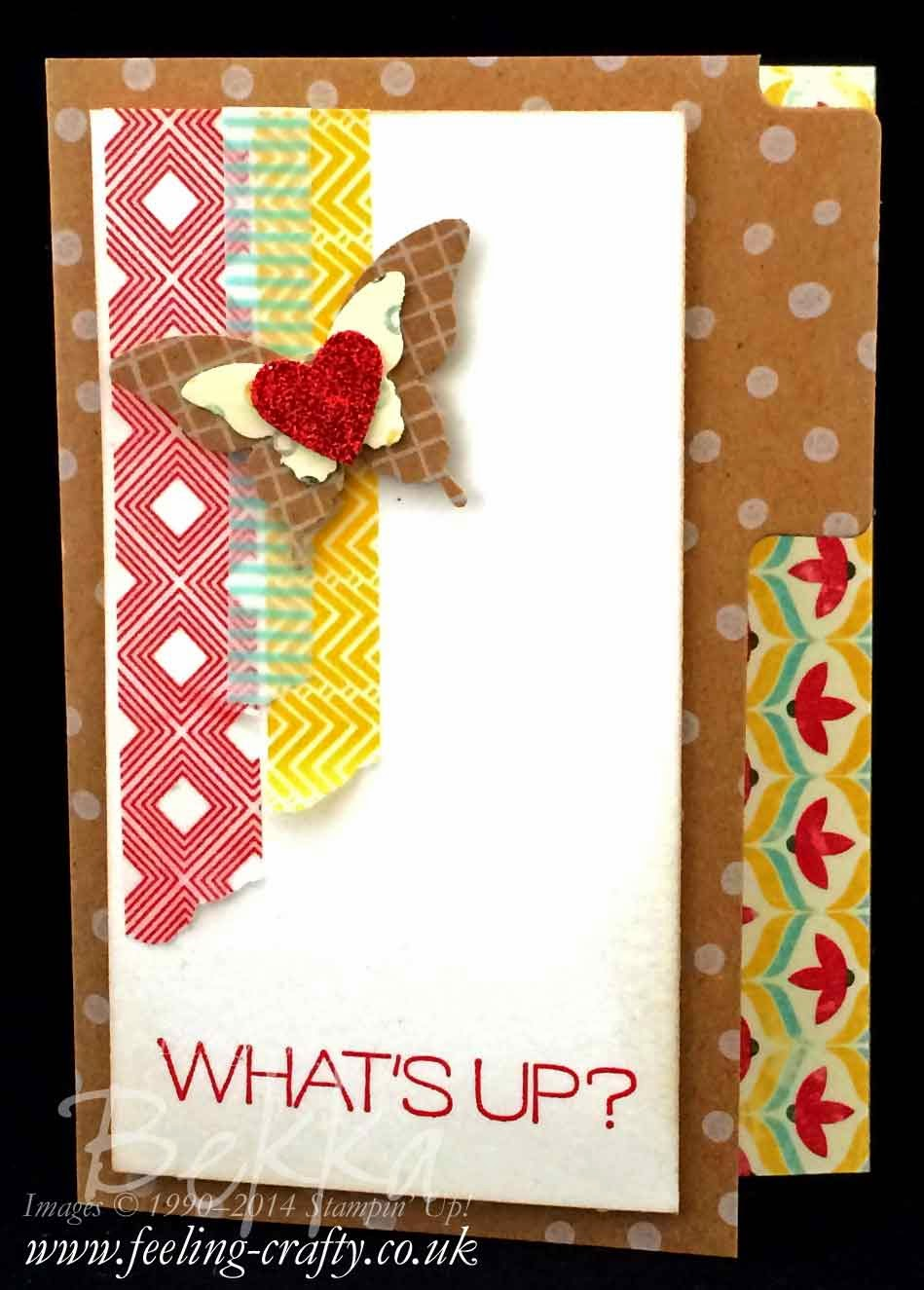 What's Up Happy Mail File Card by Stampin' Up! UK Independent Demonstrator Bekka - check her blog for lot of cute idea
